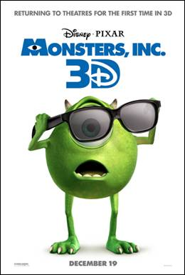 disney pixar monsters inc 3d