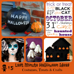 Last Minute Halloween Ideas Costumes, Treats, Crafts – Tutorials!