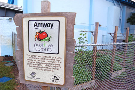 Boys and Girls Clubs of America Amway Positive Sprouts