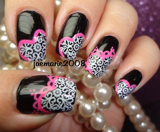 valentines day nail art designs super hot ideas tips and tricks - Hot Designs Nail Art Ideas