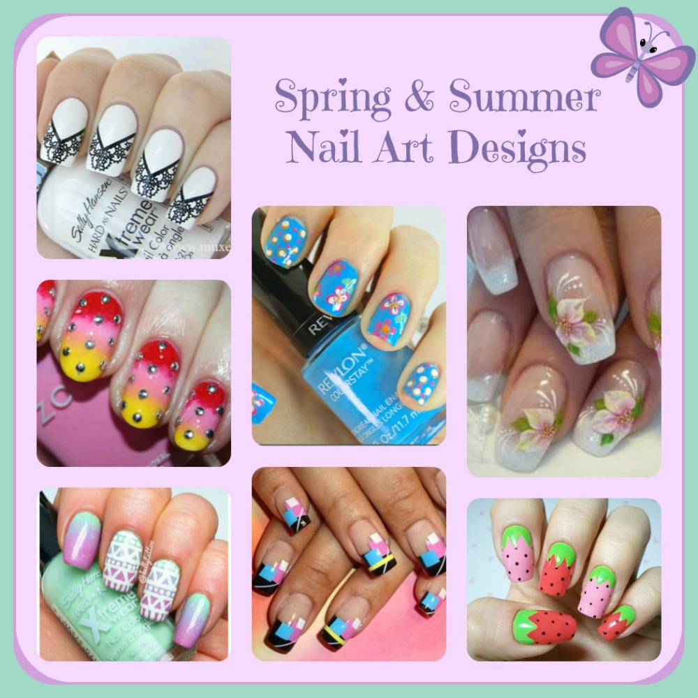 Pretty Nail Art: Pretty Nail Art Designs Spring And Summer Tips Trends