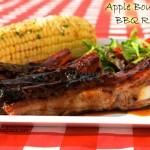 Apple Bourbon BBQ Ribs Summer Grilling