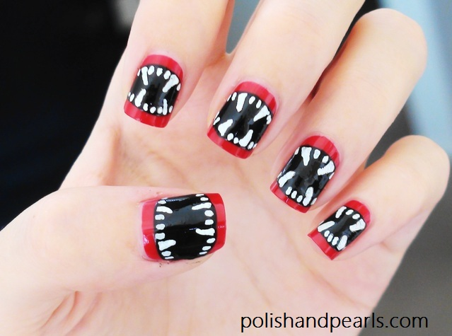 Vampire Nails from Polish and Pearls