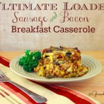 Loaded Sausage & Bacon Breakfast Casserole Recipe Easy Morning Meals