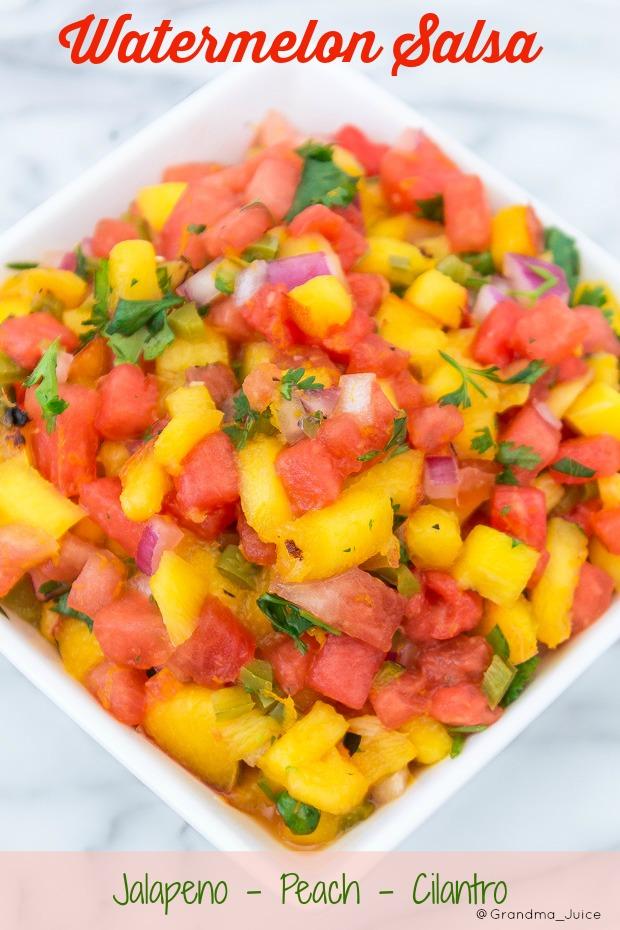 Spicy Watermelon Salsa Recipe   Grandma Juice Blog
